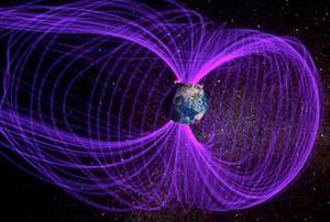 磁場は地球内部の鉄やニッケルを多く含んだ核(コア)の流動物質が自転と熱対流によって回転することで電流を生じ、この電流が電磁石あるいは発電機(ダイナモ)のように生成・維持すると考えられている。