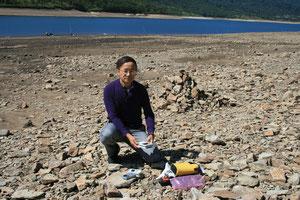 2009/8/30 60歳で自然科学地理風水師の修行 野反湖で放射線・マイナスイオン・磁場測定~国内外で大地測定