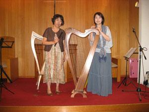 リコーダーの若林さんとチャペルミニコンサート