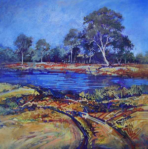 Painting-Water hole-Dundee NSW