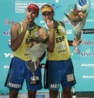 Pablo Herrera y Raul Mesa, campeones de Europa 2005