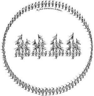 Troupes rangées en rond ou formant un tourbillon