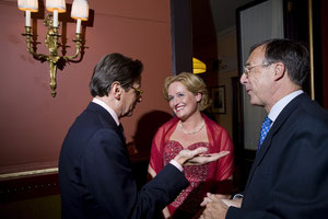Guests Laurents-Jan Brinkhorst (right), Frank Jansen, Hanneke de Wit