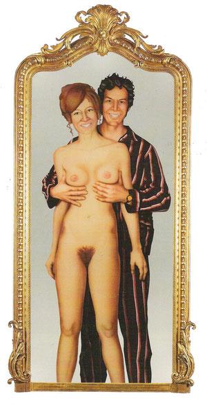 Margrit Jäggli Spiegel-Doppelportrait  1971