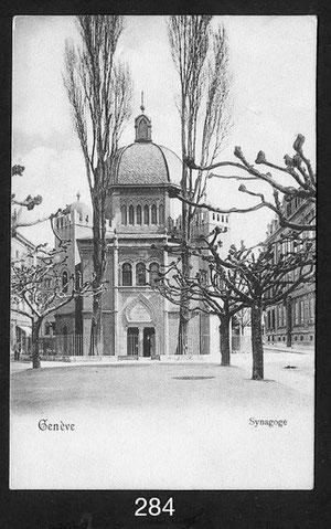 alte Aufnahme der Synagoge