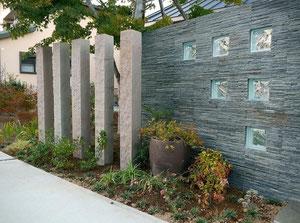 自然石角柱