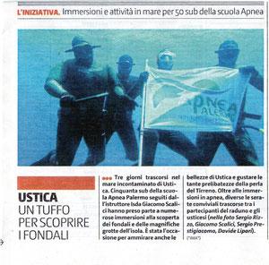 week-end di Apnea a Ustica 7 - 9 giugno.