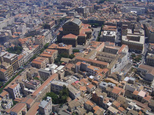 Palermo city-center - air view