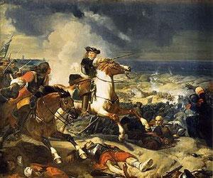 Le maréchal de TURENNE à la bataille des Dunes (1658) (Charles-Philippe LARIVIERE, Versailles, Galerie des Batailles)
