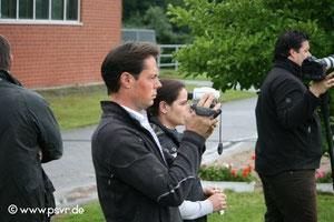 Hat's im Blick- Tara's Trainer Matthias Vatter     Foto: PSVR