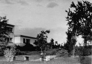 DIE Gartenbank mit Blick auf die Clausen-Wohnung (1967)