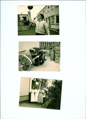In der Mitte Herr Döll als Feinmechaniker, unten: links Rosel, Frau Hermanski und Vroni