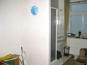Neue Dusche in Clausens altem Schlafzimmer