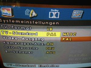 Choose TV Standard