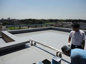 屋上ウレタン塗布防水