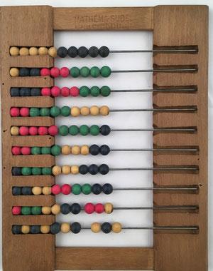 "Ábaco frances ""boulier"", Mathéma-Sudel, 10 filas de 10 bolas cada una, 18x24 cm"