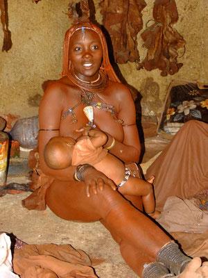 Die Häuptlingsfrau eines Himbastammes