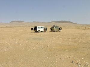 nahe der Namibmine am Rosenquarzberg