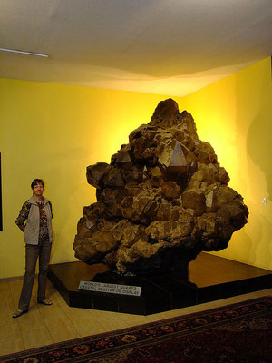 größte geborgene Quarzstufe der Welt