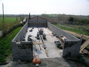 construction de la cave-hiver 2007