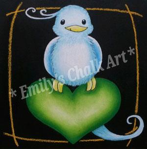 massage from a blue bird