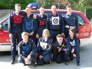 Das Wettkampfteam der FF Kasten im Jahr 2012.