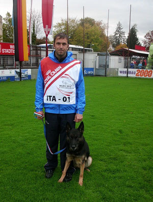Michael Ilmer mit Gina - WUSV-WM 2012 / Steyr - Österreich