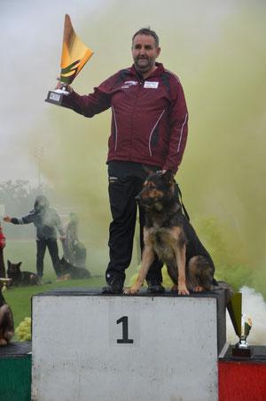 SAS-Italienmeister 2012 - Campione sociale di addestramento SAS 2012 - Josef Pircher (Jumbo) mit Fanto von der Vill