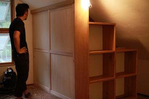 階段たんす と 収納スペース