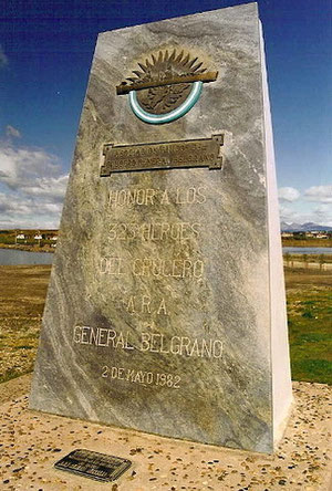 A los caidos ARA Gral.Belgrano (Usuahia)