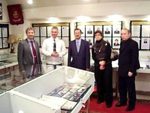 В музее УФСКН России по Москве 20.12.2012г. Председатель НСНБР А.Г.Огнивцев На фото справа.