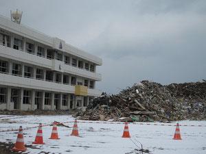 被災した宮城県南三陸町立戸倉小学校