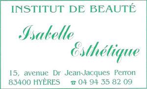 Institut Isabelle Esthétique à Hyères dans le Var