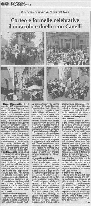 Articolo L'Ancora del 19-05-2013