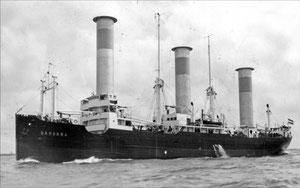"Abbildung 8: Rotorschiff ""Barbara"" am 12.05.1927 auslaufend bei Blankenese (Foto Erich Sidow, Wikipedia)"