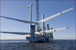 Abbildung 6: Die Sea Energy von A2SEA zählt zur 2. Generation der Errichterschiffe  (Quelle Siemens)