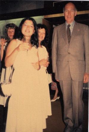 Avec Valéry Giscard d'Estaing