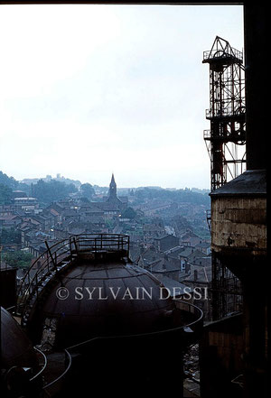 Vue de la cité ouvrière de Gouraincourt 1980
