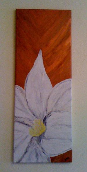 Weiße Blüte - Dezember 2011 (30x80cm)