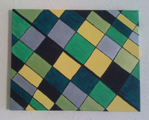 Grüngelb - Dezember 2011 (40x50cm)