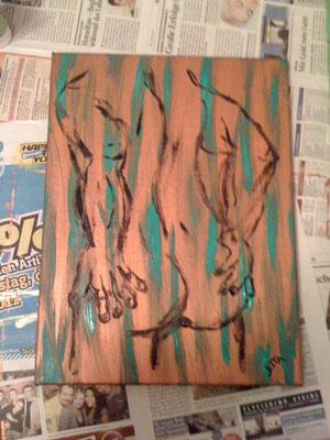 Rückenansicht - Oktober 2011 (30x40cm)