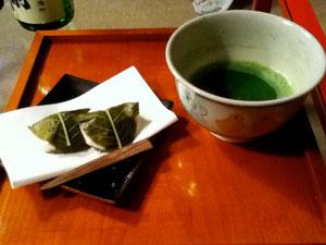 〆はお抹茶