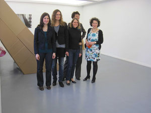 das Team mit Karin Lelonek, Kunsthistorikerin