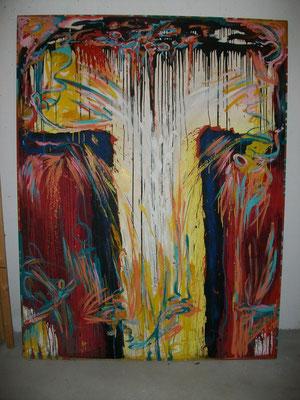 CRUCIFIXION - Öl auf Holz - 210 x 160 cm (KOUTEK Manfred)