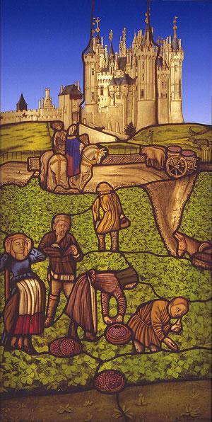 Atelier Théophile - Philippe Brissy - le château de Saumur comme au XVème siècle.Philippe Brissy Atelier Théophile