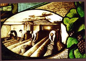 atelier théophile - philippe Brissy -détail vitrail - montsoreau