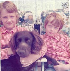 Met Deutscher Wachtelhund Inka en zusje Maike