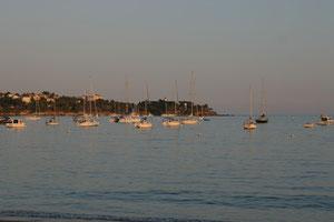 Abendstimmung am Meer in Agay