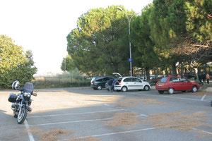 Meine GS vor dem SNCF-Terminal in Avignon