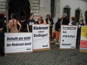 Aktion der Niederämter vor dem solothurner Ratshaus vor der KR-Debatte, August 2009